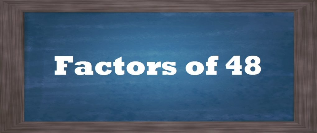 A Look At What The Factors Of 48 Are And How You Find Them