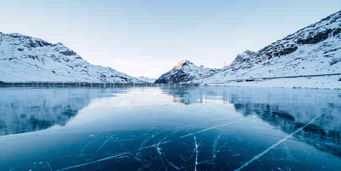 Header image for article answering the question why does water expand when it freezes?