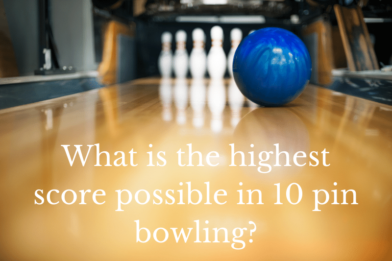 Answering the question: Most of us have been to the bowling alley for a game of bowling at some point in our lives. It's great fun and time well-spent with friends and family, but do you know what is the highest score possible in 10 pin bowling?